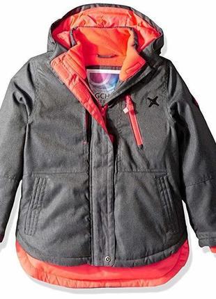 Зимняя лыжная соубордическая куртка парка big chill на девочку 6-7 лет