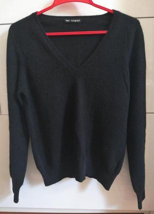 Чёрный 100% кашемировый свитер