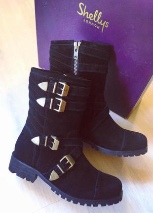 Shellys london зимние женские ботинки, сапоги 37, 38, 39