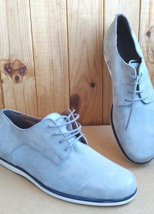 Полностью кожаные туфли мокасины полуботинки hand made
