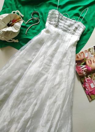 Винтажное свадебное платье, ампир греческий стиль, открытая спинка корсет, органза шелк