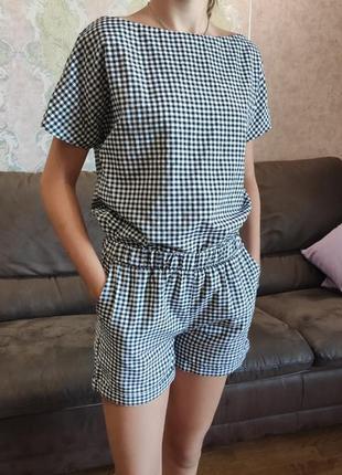 Стильний літній костюм: футболка+шорти 42/44