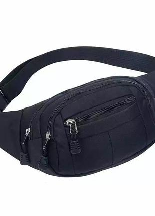Сумка бананка женская бананка мужская сумка унисекс сумка на пояс чёрная