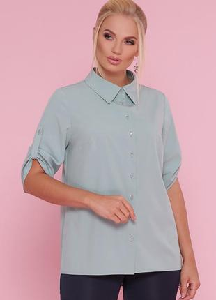 """Женская офисная рубашка """"лана"""" батал"""