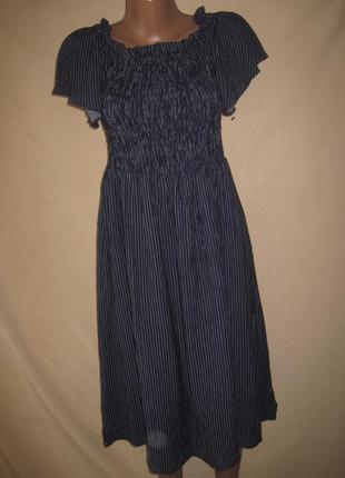 Платье в полоску зара размер12.