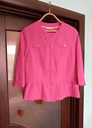Рожевий піджак батал