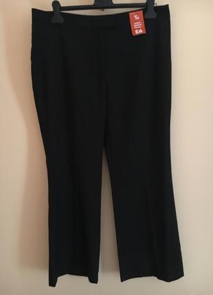 Батал большой размер чёрные прямые классические брюки брючки штаны штаники