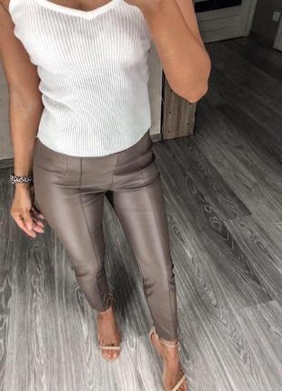 Лосины с эко кожи кожаные штаны