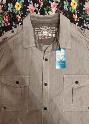Рубашка с коротким рукавом мужская next оригинал 100% котон
