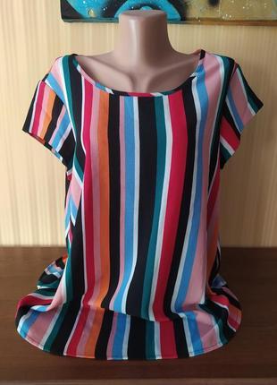 Блуза в полоску с коротким рукавом only