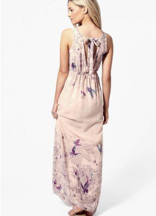 Классное длинное платье сарафан с вырезом на спине.
