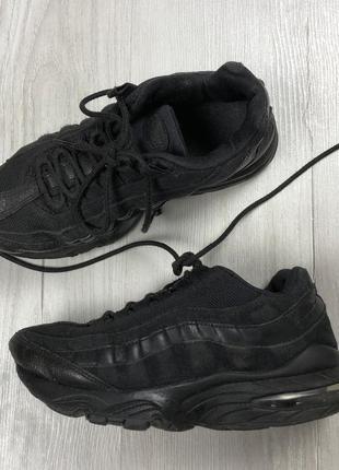 N7 кроссовки nike airmax кожаные женские кроссовки найк черные