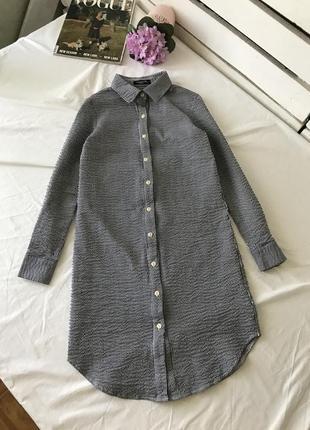 Платье-рубашка в полоску, туника