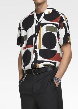 Zara man рубашка гавайка шведка