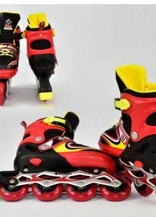 Ролики для мальчика девочки силиконовые колёса роликовые коньки