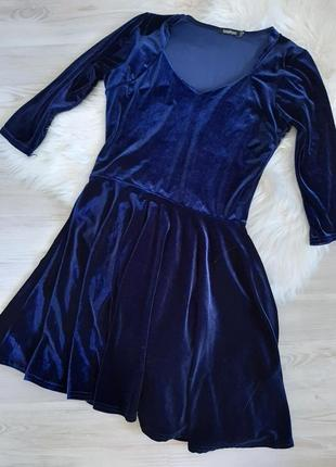 Вельветовое бархатное платье солнце клеш