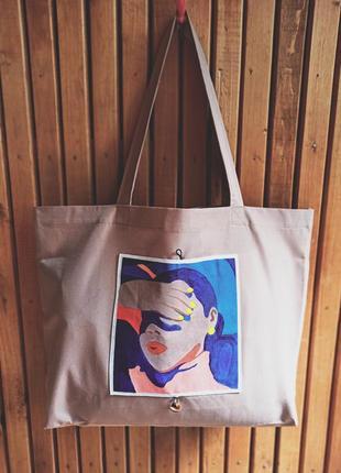 Шоппер, эко-сумка, ручная роспись