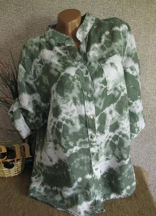 Летняя блуза 100 % лён eur 42 распродажа