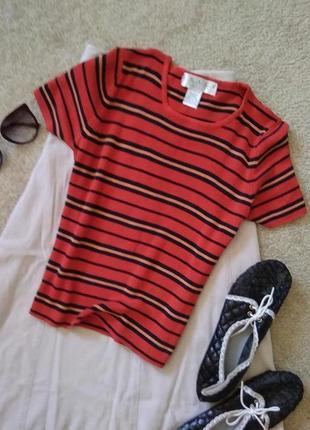 Шелковая актуальная полосатая футболка