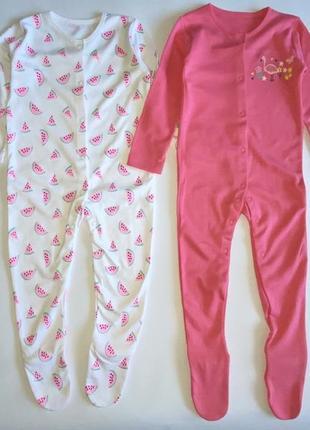 """Набор человечков george """"flamingo print"""" 12-18 мес, 80-86 см"""