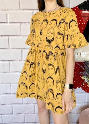 Нереальної краси нова хлопкова сукня, гарна спинка , універсальний розмір
