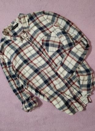 Теплая рубашка с длинным рукавом