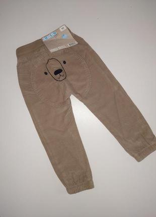 Розпродаж!вельветові штани на котоновій підкладці lupilu