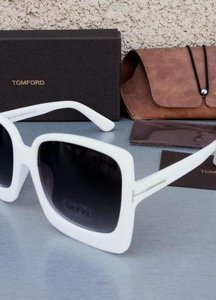 Tom ford очки женские солнцезащитные большие белые с градиентом