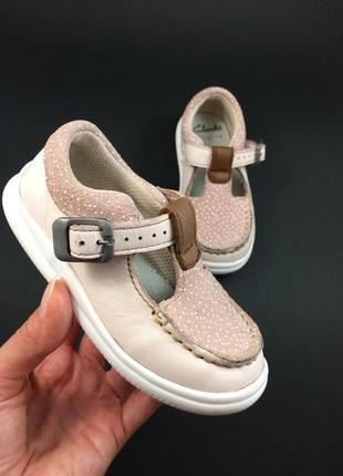 Clarks легенькі шкіряні туфельки туфли на девочку