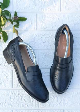 ✴️ кожаные туфли броги clarks р  36,5-37 сост новых