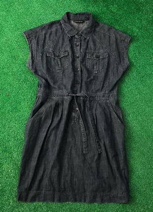 Коттоновое платье сарафан большого размера батал