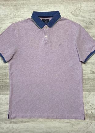 Поло/тенниска hackett london woven trim polo shirt