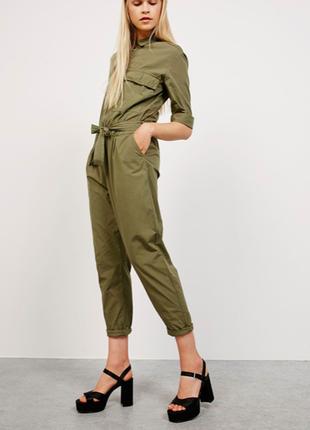 Bershka хаки комбинезон со штанами на замочке