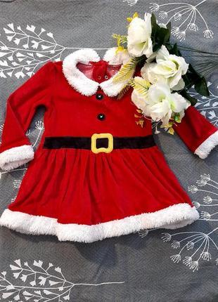 Новогоднее платье 12-18м