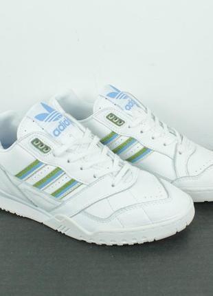 Оригинальные кожаные кроссовки adidas a.r. trainer white