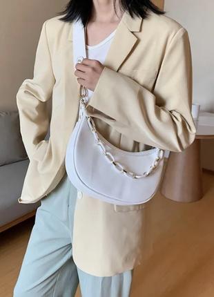 Женская белая сумка кросс-боди, мини сумка клатч, сумочка через плечо новинка 2020