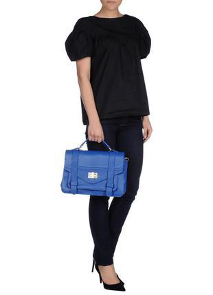 Сумка оксфорд портфель синяя pierre darre италия кожа
