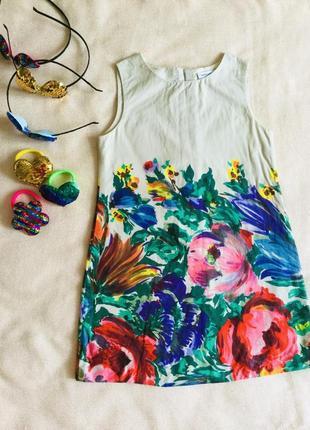Dolce & gabbana (дольче габбана). яркие цветочные платьице  оригинал