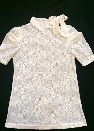 Фирменная кружевная блузочка bershka,блуза,кофточка+подарок красивый ремешок