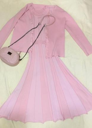 Костюм платье и кардиган