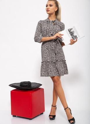 Платье женское цвет леопардовый