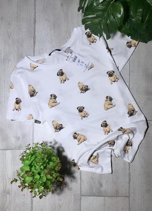 Новая футболка с мопсами