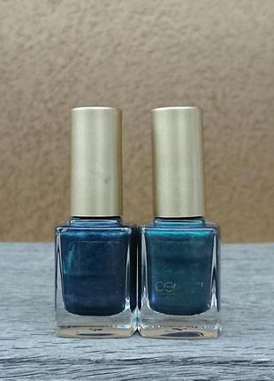 Лаки для ногтей, синий лак, зелёный лак