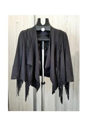 Куртка косуха с бахромой от bershka