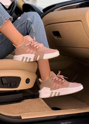 Шикарные женские кроссовки adidas equipment beige