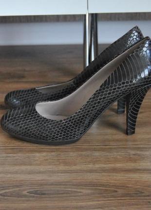 Кожаные туфли лодочки footglove / шкіряні туфлі