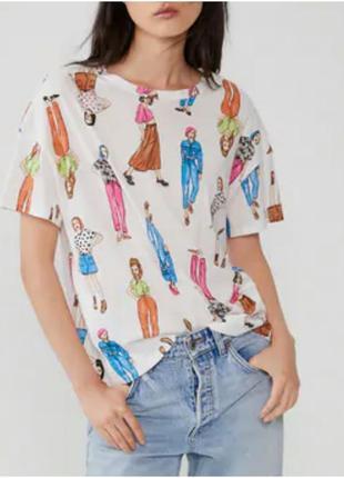 Zara  sale зара футболка оверсайз