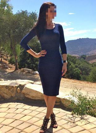Фирменное соблазнительное миди платье forever 21 marbled knit bodycon dress