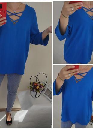 Голубая блуза средней плотности