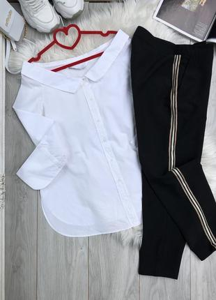 Рубашка zara и брюки с лампасами италия
